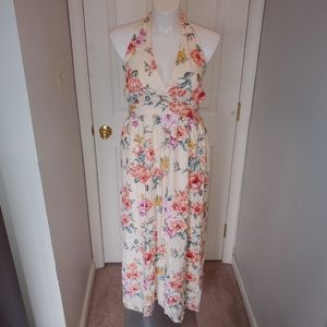Open back floral maxi dress